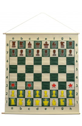 """36"""" Pouch-Style Chess Demonstration (Teaching) Board Set with Deluxe Carrying Bag"""