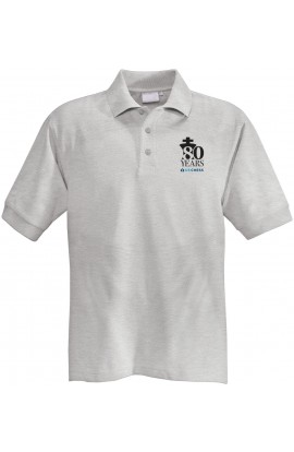 80th Anniversary US Chess Polo Shirt - GRAY