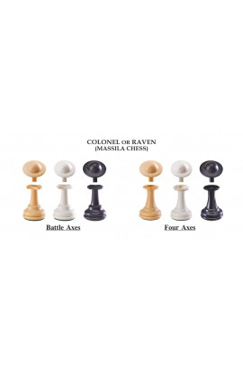 """The Next Gen Pawns Plastic Chess Pieces - 3.75"""" King - Colonel Variation"""