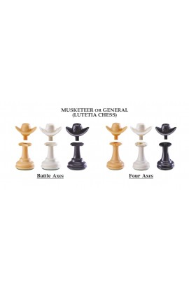 """The Next Gen Pawns Plastic Chess Pieces - 3.75"""" King - General Variation"""