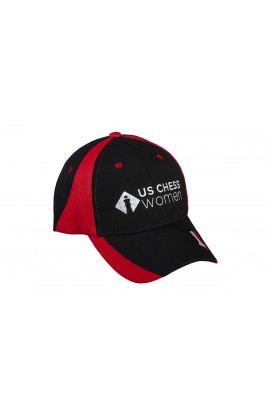 US Chess Women Baseball Hat - Black & Red