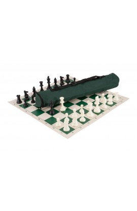 Quiver Chess Set Combination - Single Weighted Regulation Pieces | Vinyl Chess Board | Quiver Bag