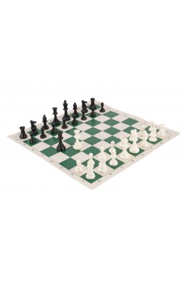 Regulation Tournament Chess Pieces and Chess Board Combo - SINGLE WEIGHTED