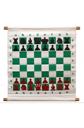 """28"""" Magnetic-Style Chess Demonstration (Teaching) Board Set with Deluxe Carrying Bag"""
