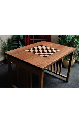 """Signature Traditional Chess Table with Built in Chess Board - 2.25"""" Squares"""
