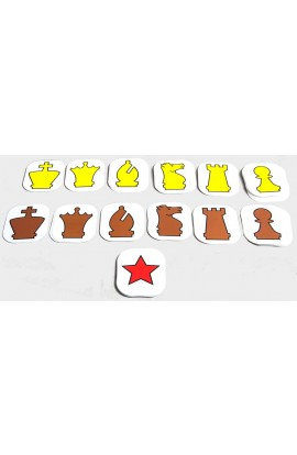 """Extra Pieces for 36"""" Pouch-Style Chess Demonstration Set"""