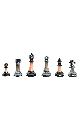"""The Contemporary Series Plastic Chess Pieces - 3.5"""" King"""