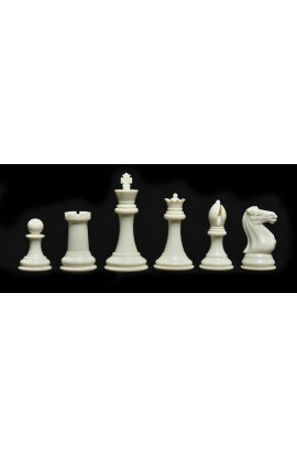 """The Fischer Series Plastic Chess Pieces - 4.0"""" King"""