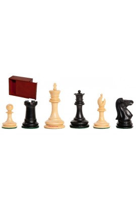 "The Zukertort Series Library Chess Pieces - 2.875"" King - Includes Free Slide-Top Box"