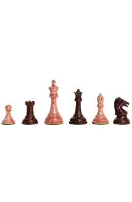 """The Exotique Collection® - Reproduction of the Drueke Players Choice Chess Pieces - 3.75"""" King - With Indian Rosewood"""