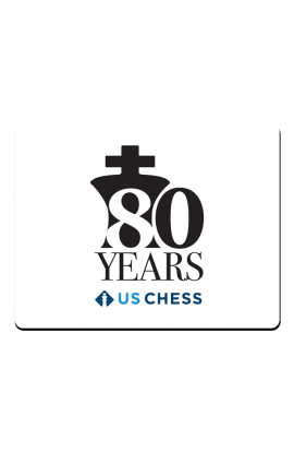 US Chess Federation 80th Anniversary - Mousepad - White