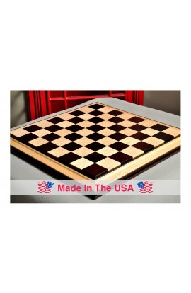 """Signature Contemporary III Luxury Chess board - AFRICAN PALISANDER / BIRD'S EYE MAPLE - 2.5"""" Squares"""