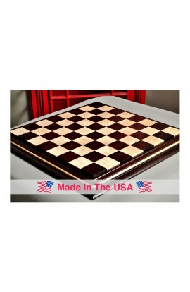 """Signature Contemporary II Chess Board - African Palisander/ Curly Maple - 2.5"""" Squares"""