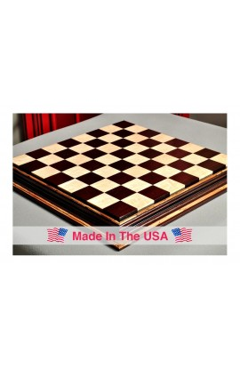 """Signature Contemporary Chess Board - AFRICAN PALISANDER  / BIRD'S EYE MAPLE - 2.5"""" Squares"""