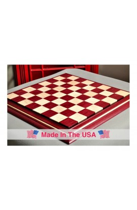 """Signature Contemporary II Chess Board - Purpleheart / Curly Maple - 2.5"""" Squares"""