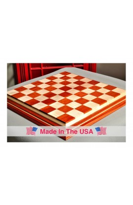 """Signature Contemporary IV Luxury Chess board - BLOODWOOD / CURLY MAPLE - 2.5"""" Squares"""