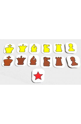 """Extra Pieces for 28"""" Pouch-Style Chess Demonstration Set"""