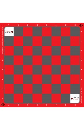 US Chess Women - Full Color Vinyl Chess Board - Red/Grey